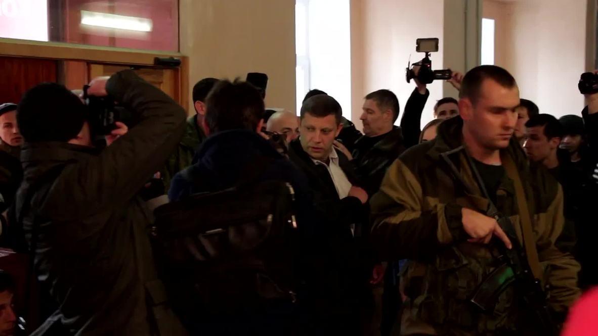 Ukraine: See Zakharchenko cast his vote in Donetsk