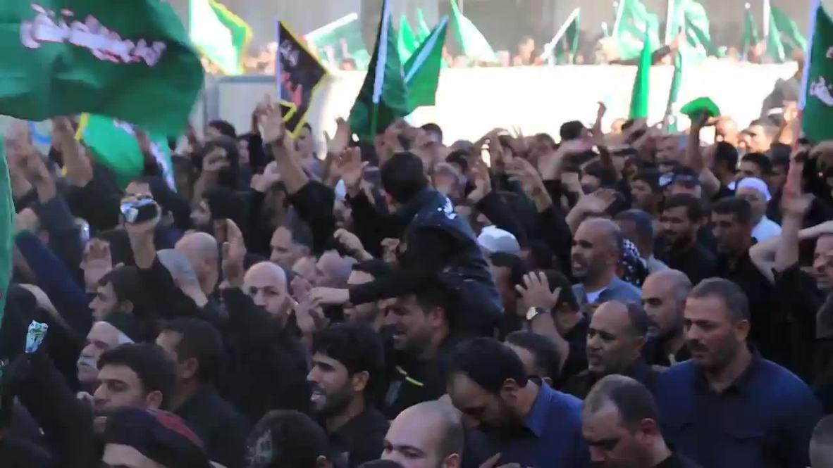 Iraq: See Shia pilgrims BEAT their heads amid IS threat