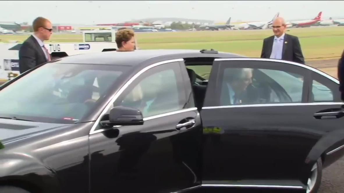 Australia: Dilma Rousseff leaves G20 summit in Brisbane
