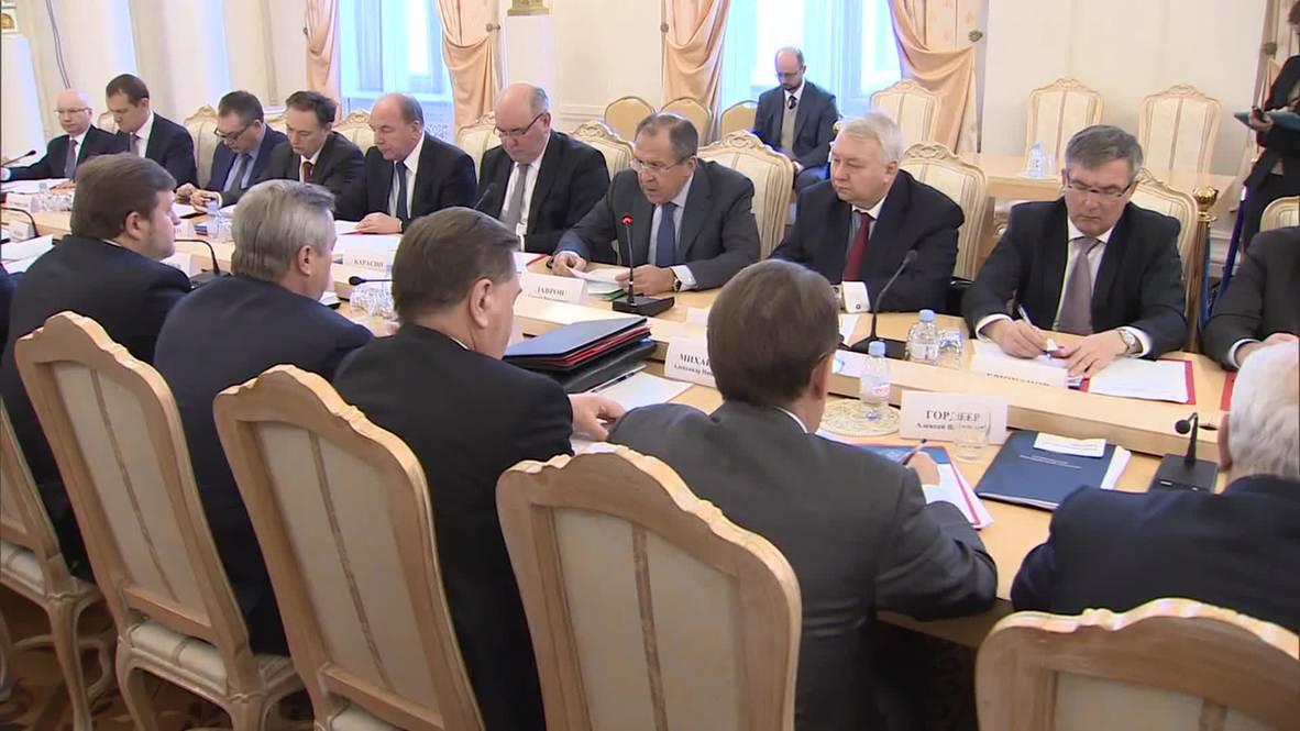 "Russia: ""After EU sanctions, strengthening BRICS cooperation makes sense,"" says Lavrov"