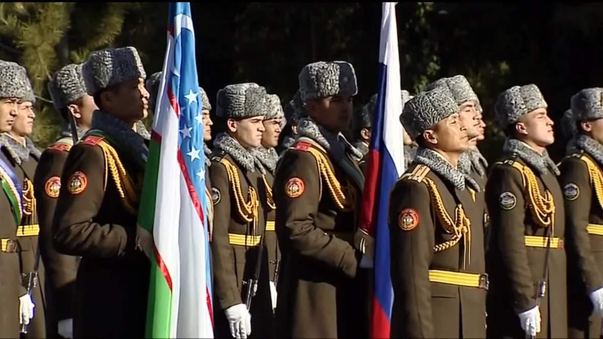 Uzbekistan: Putin meets President Karimov in Tashkent