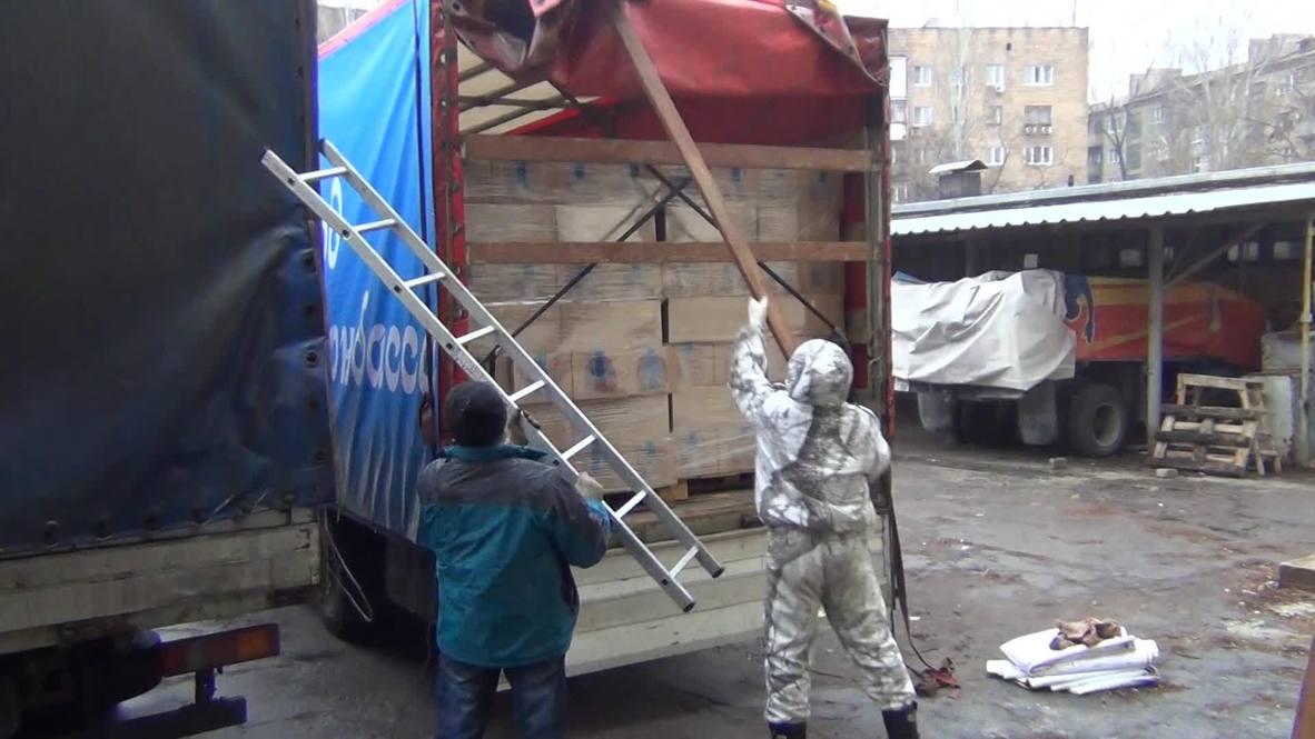 Ukraine: New Years gifts arrive for Donetsk children