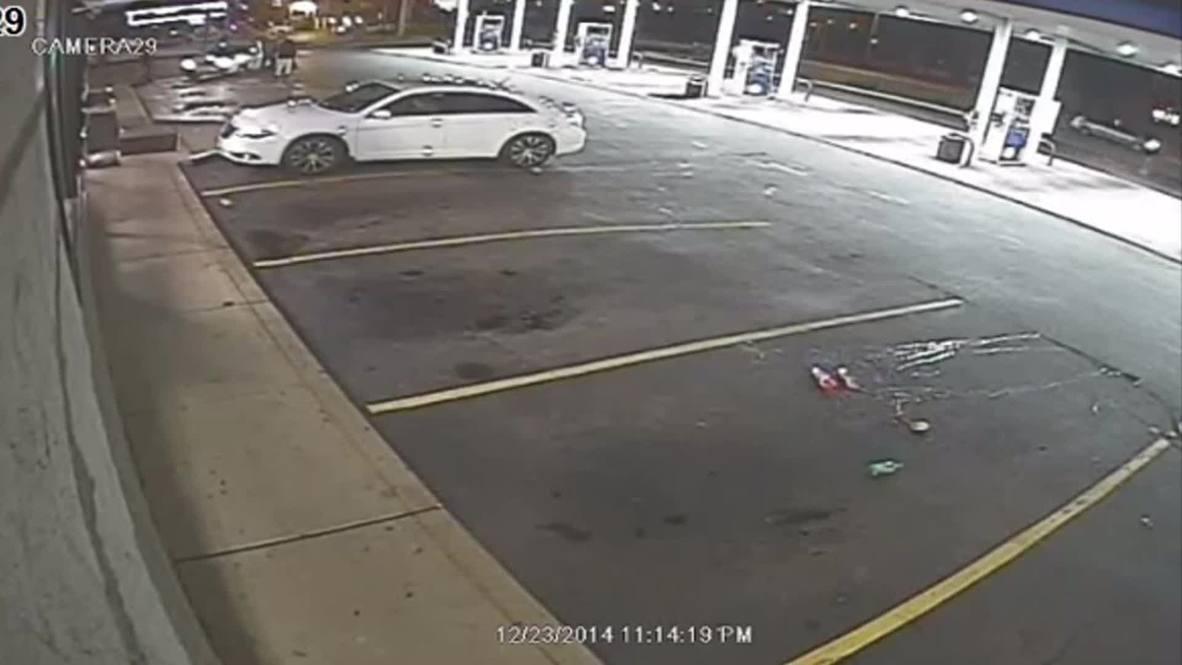 USA: CCTV footage shows Antonio Martin 'pulling gun' seconds before police shoot
