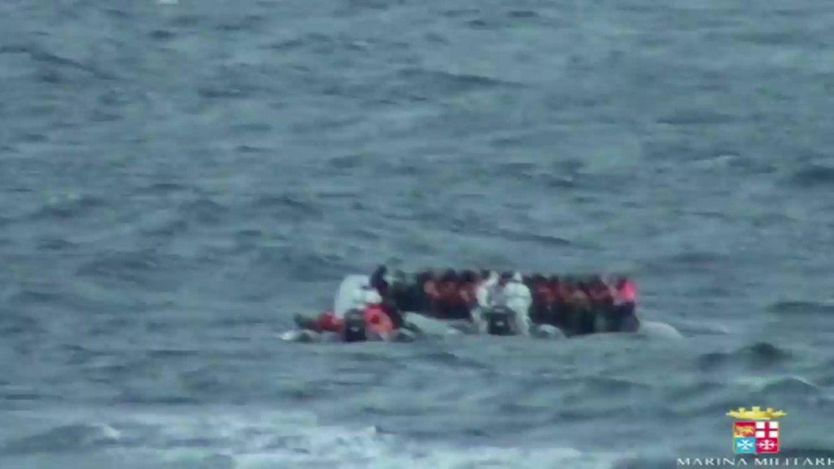 Italy: Navy pick up 1,300 migrants off Italian waters