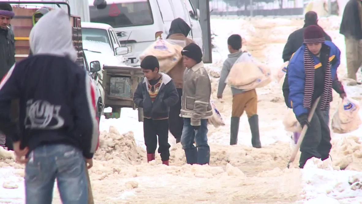 Lebanon: Syrian refugees struggle in snow