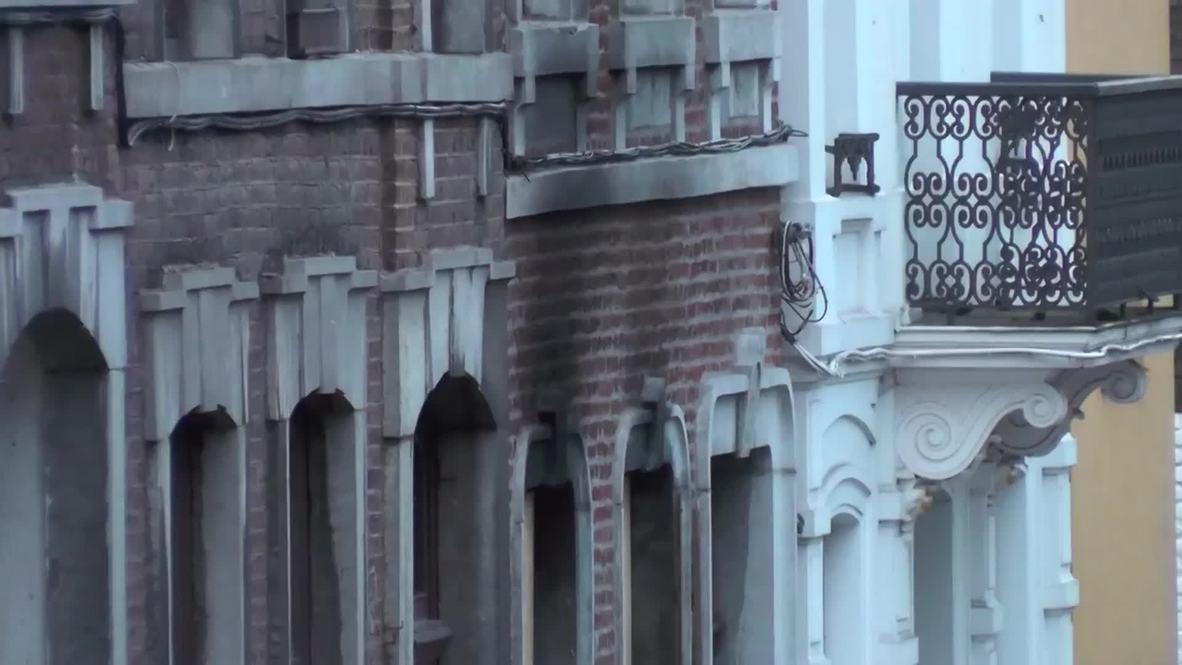 Belgium: See the battle scars of 'anti-terror' op building