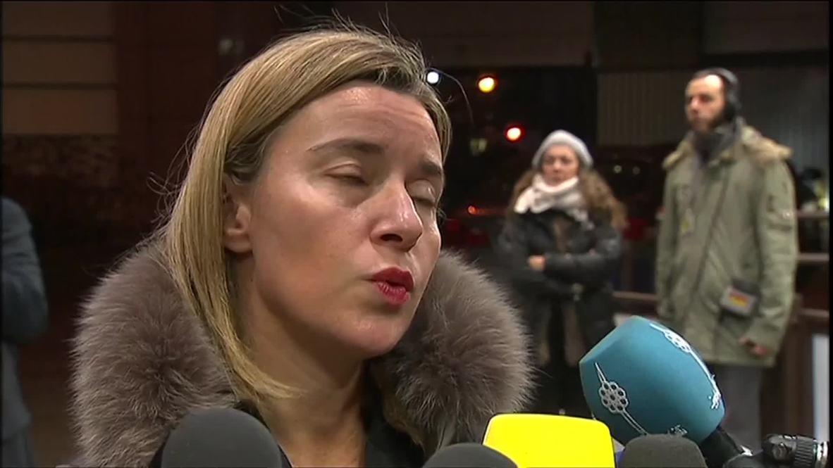 Belgium: 'Return of violence in E Ukraine not good news' - Mogherini