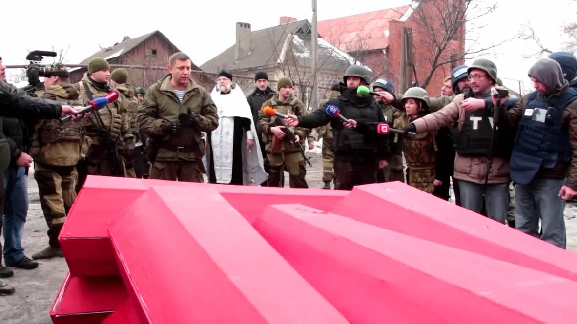 Ukraine: Zakharchenko oversees return of deceased Kiev troops