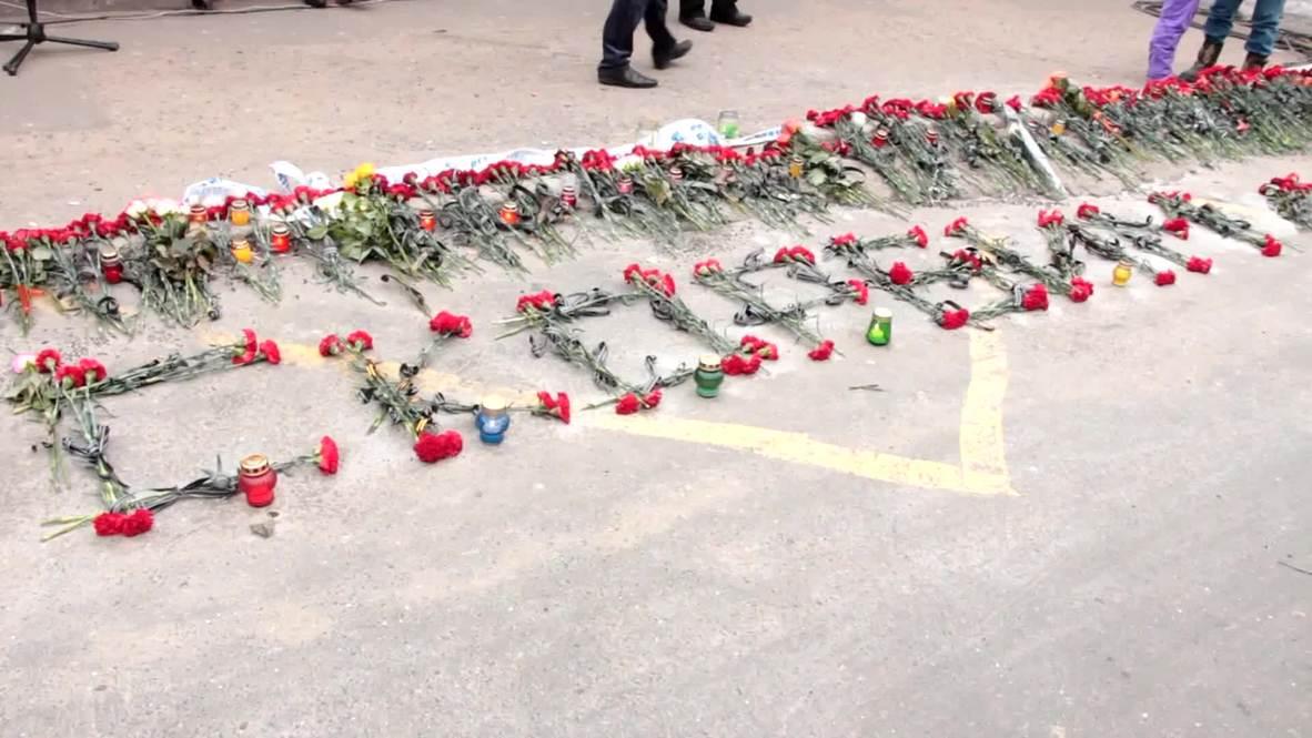 Ukraine: Hundreds mourn the victims of Bosse bus station shelling