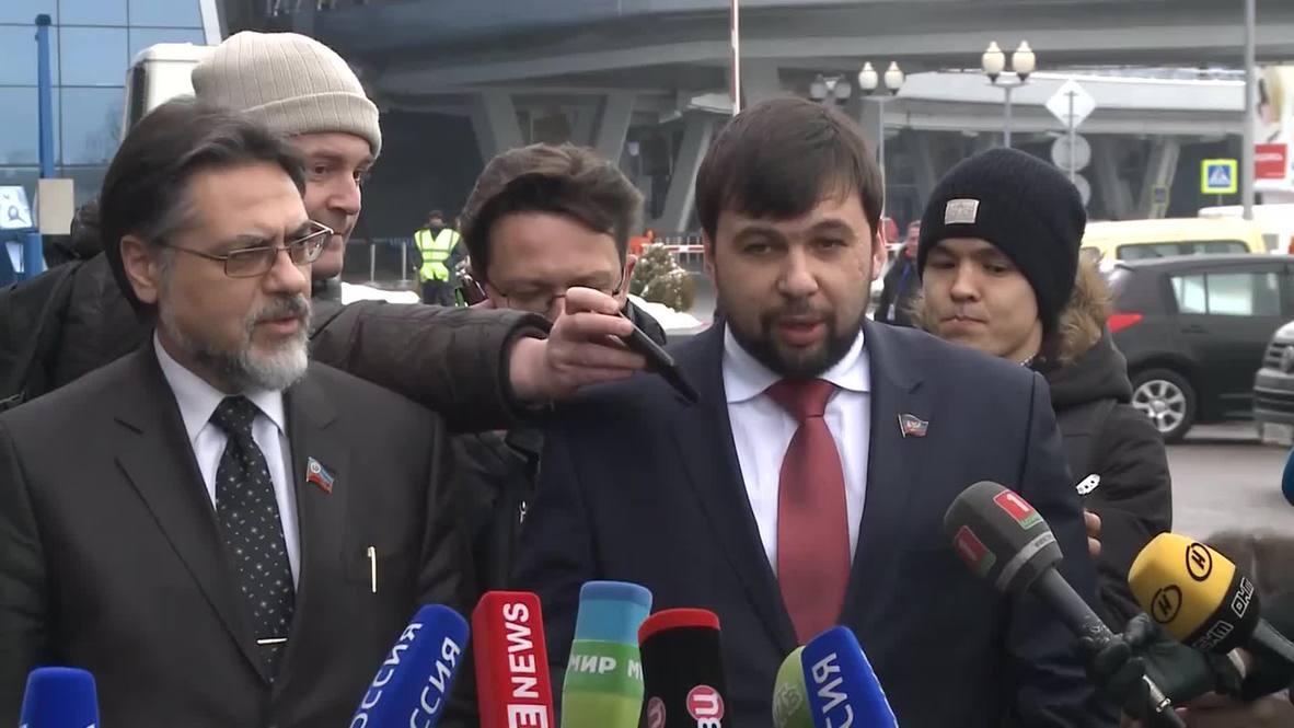Belarus: Kiev no-show as DNR's Pushilin arrives for peace talks