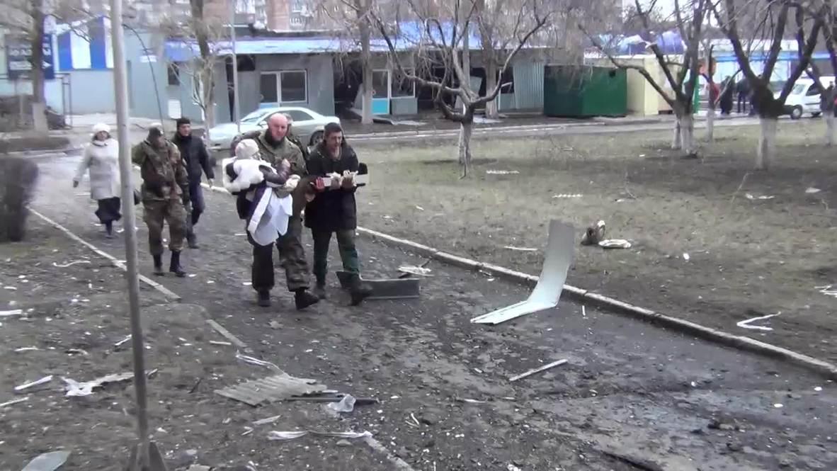 Ukraine: BREAKING First images of hospital shelled in Donetsk