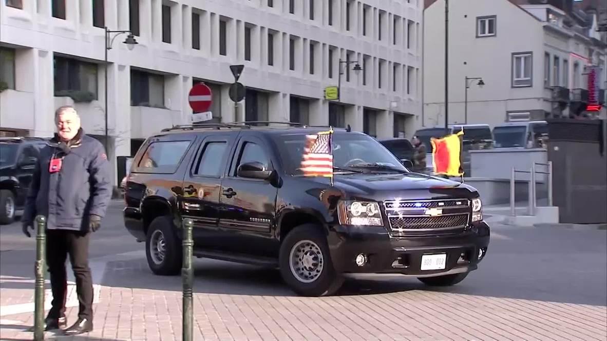 Belgium: Joe Biden arrives at EC for Ukraine talks