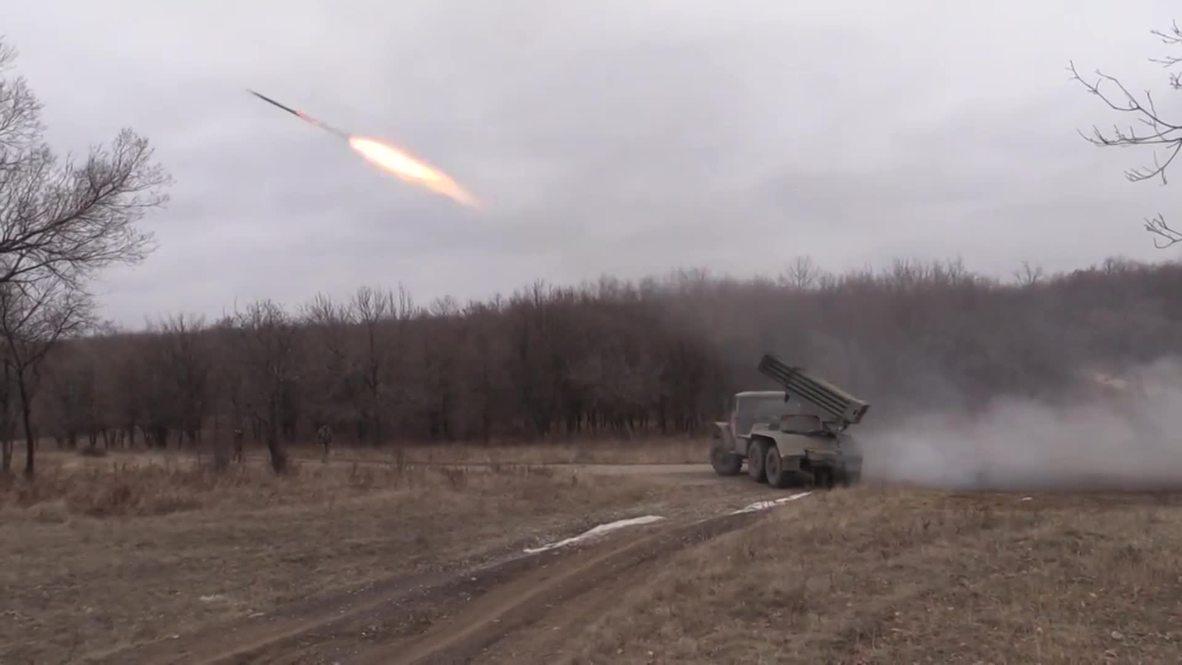 Ukraine: Lugansk militia barrage army positions with Grad missiles