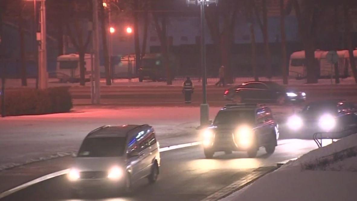 Belarus: Putin arrives at Independence Palace for Ukraine peace talks