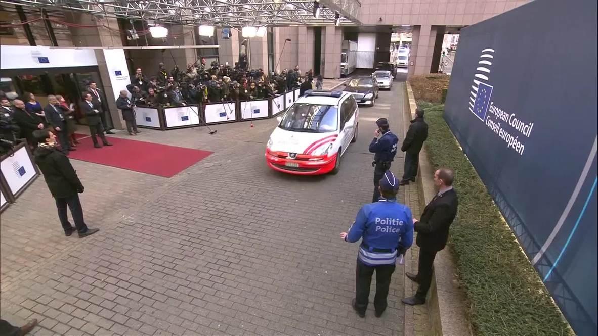 Belgium: Poroshenko arrives in Brussels for EU Council meeting