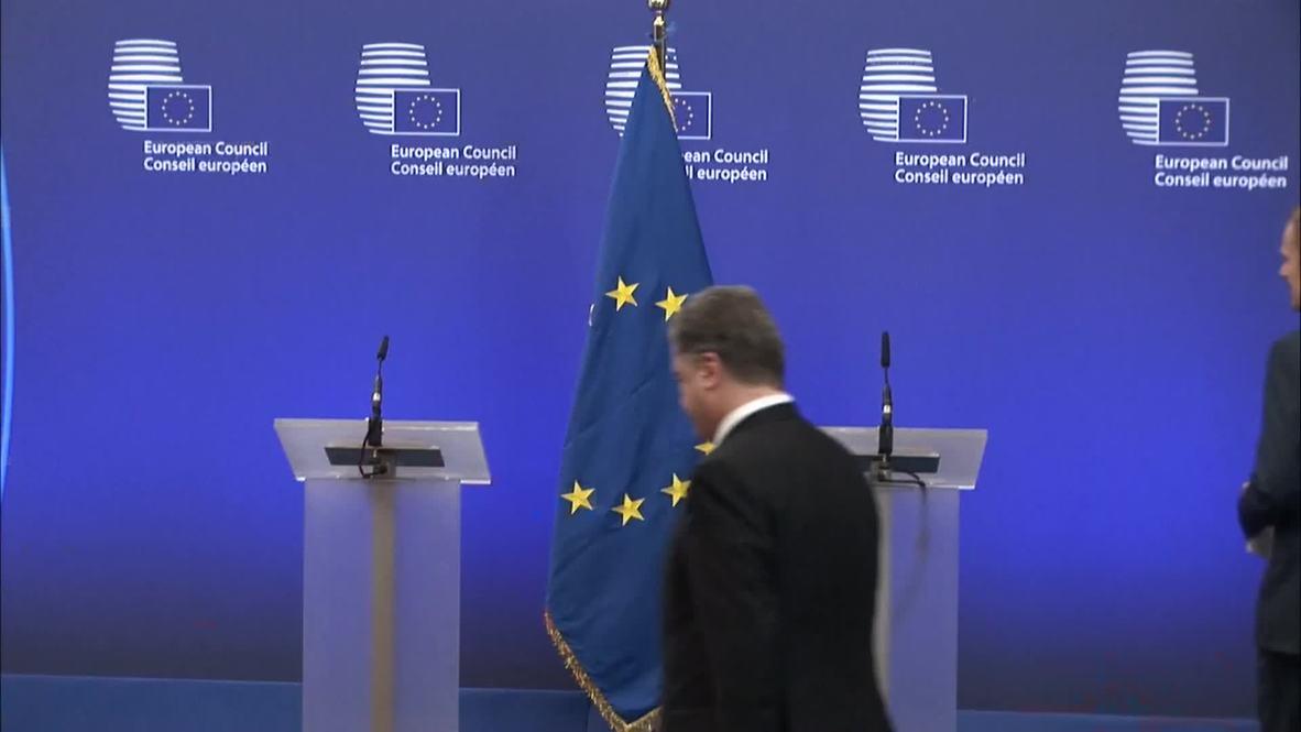 Belgium: 'The delay to ceasefire led to rebel offensive operation' - Poroshenko