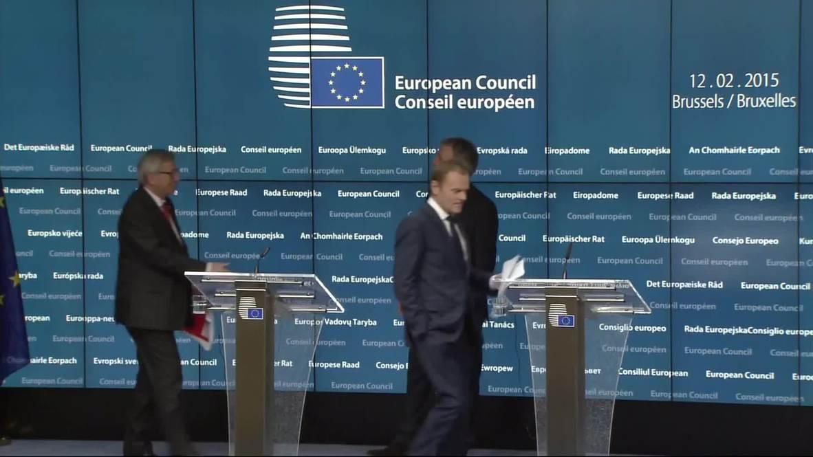 Belgium: 'Minsk talks must translate into real deeds' - Tusk