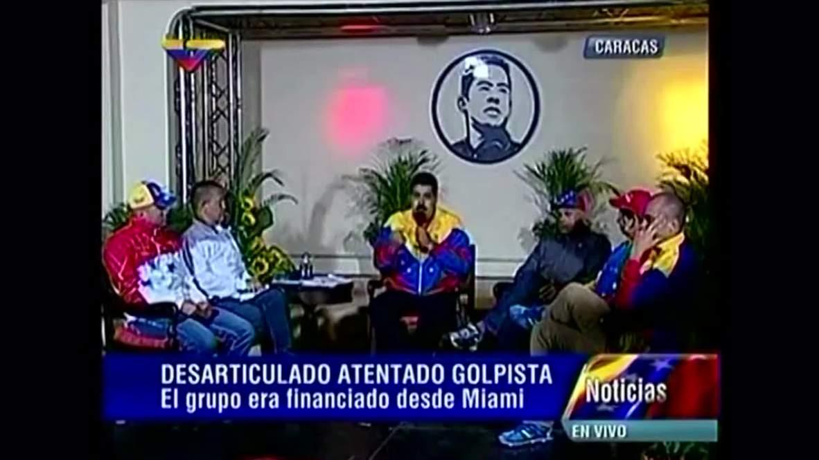 Venezuela: 'Coup plot and assassination attempt foiled' - Maduro
