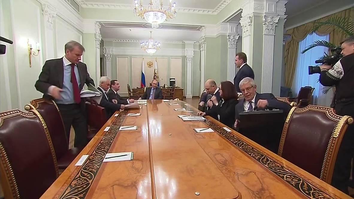 Russia: Putin wants 'top to bottom improvement of economy'