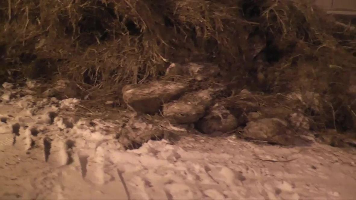 Russia: Farmer dumps tonnes of manure in front of Sberbank