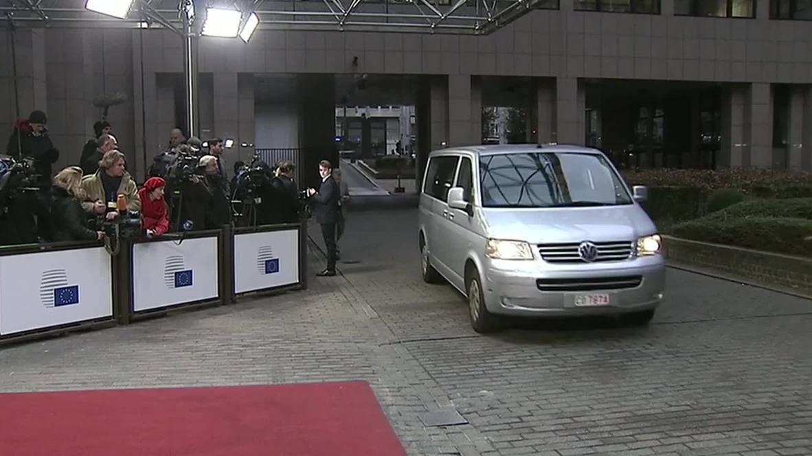 Belgium: Greek FM Varoufakis arrives for Eurogroup negotiations