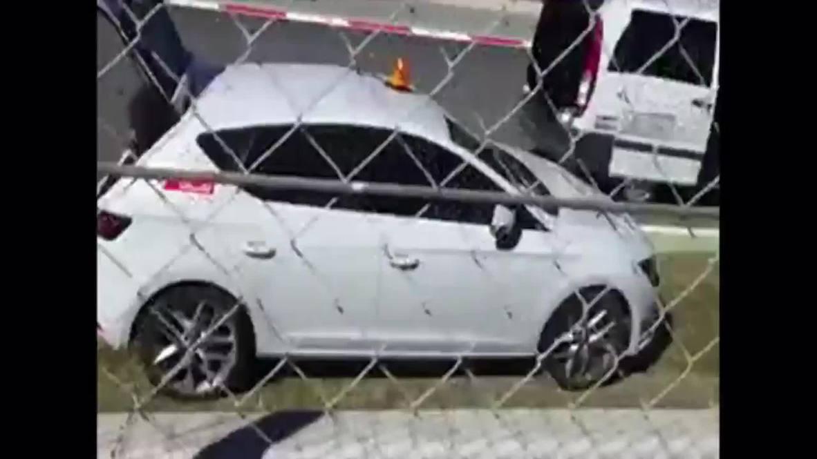Spain: F1 Champion Fernando Alonso crashes during preseason testing
