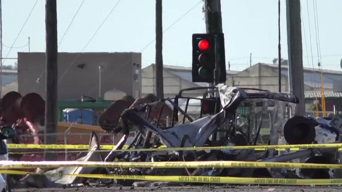USA: Train collides with truck near LA, injuring 28