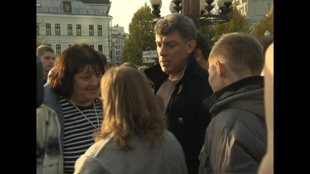 Russia: The late Boris Nemtsov attends 2012 protest *ARCHIVE*