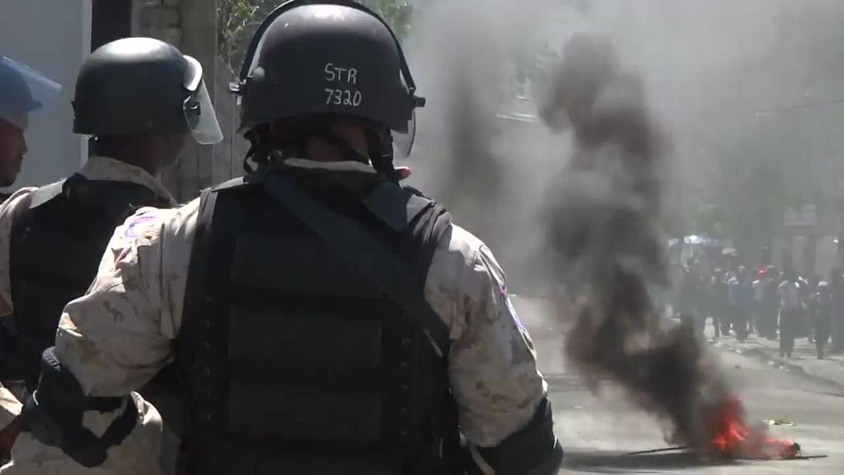 Haiti: Port-au-Prince BURNS during fuel price protest