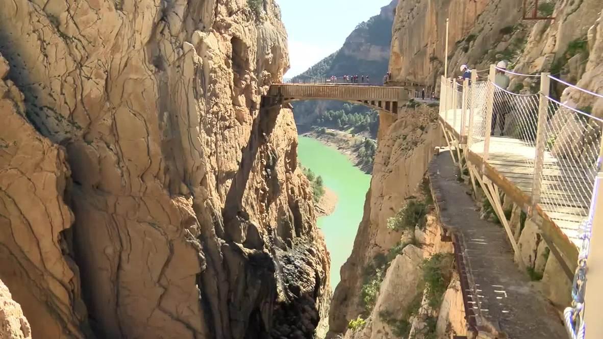 Spain: Fancy a stroll along this SHEER-DROP path?