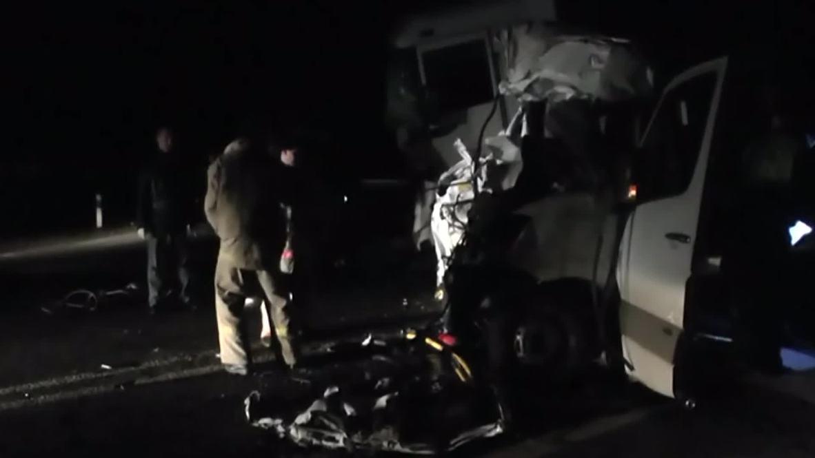 Russia: Horrific car crash kills 15 in Bryansk
