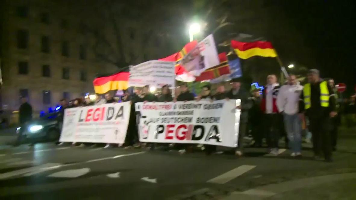 Germany: PEGIDA march through Dresden