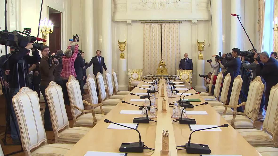 Russia: Lavrov welcomes Iraqi FM al-Jaafari for bilateral talks in Moscow