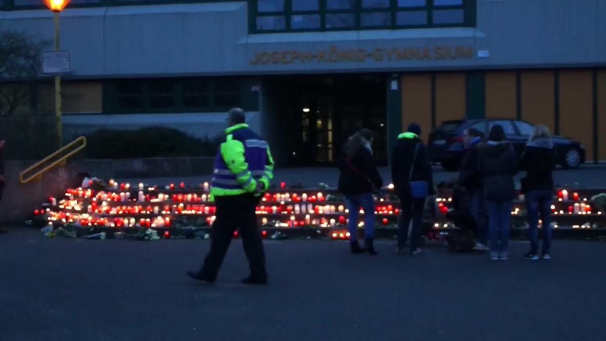 Germany: Candle-lit vigil held outside school of Germanwings crash victims