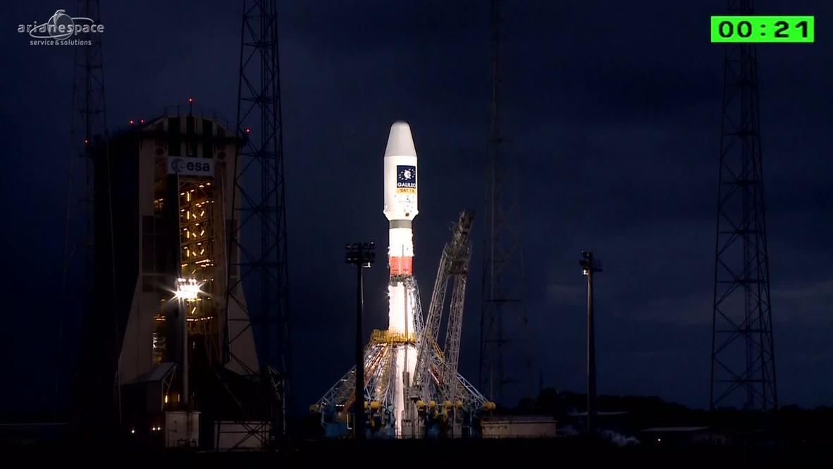 French Guiana: Blastoff! Europe launches two more Galileo satellites