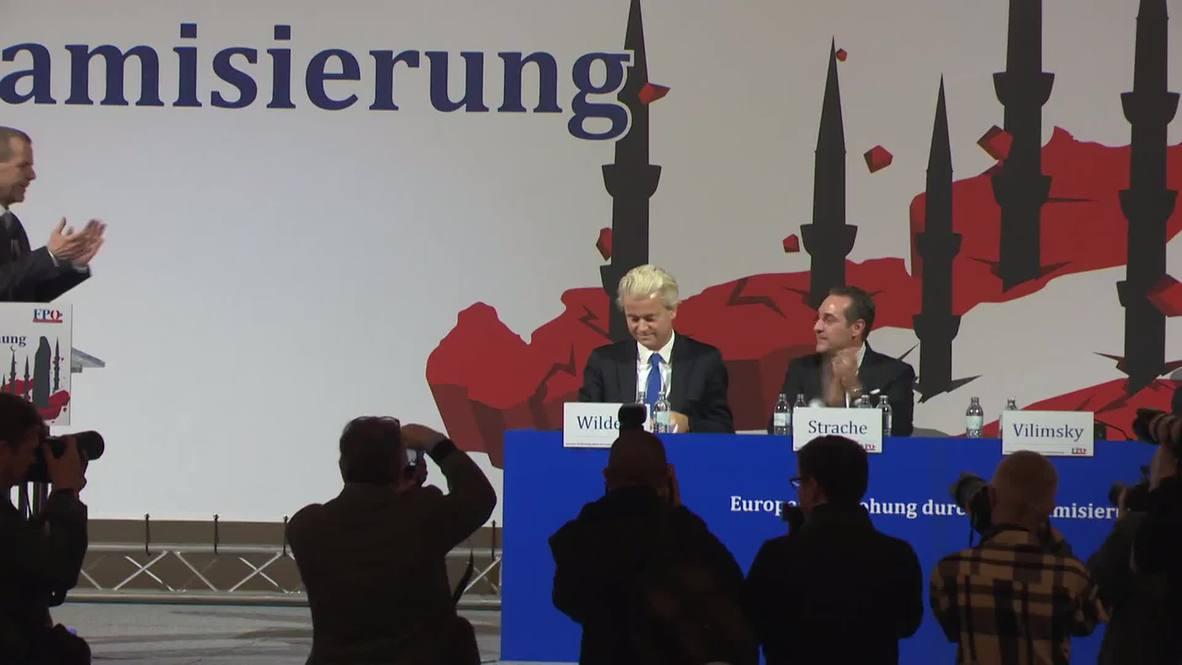 "Austria:""We will defeat Islam"" - PVV leader Geert Wilders"