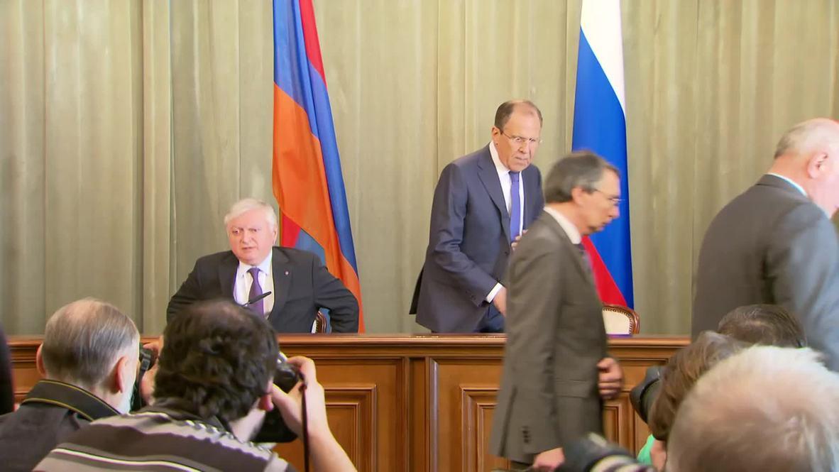 Armenia: Lavrov hails progress of Syria talks held in Moscow