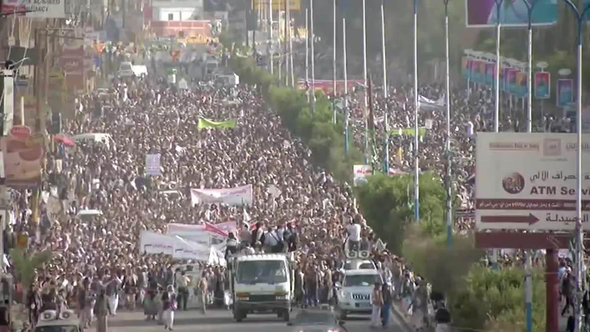 Yemen: Yemenis march in force to condemn Saudi-led airstrikes