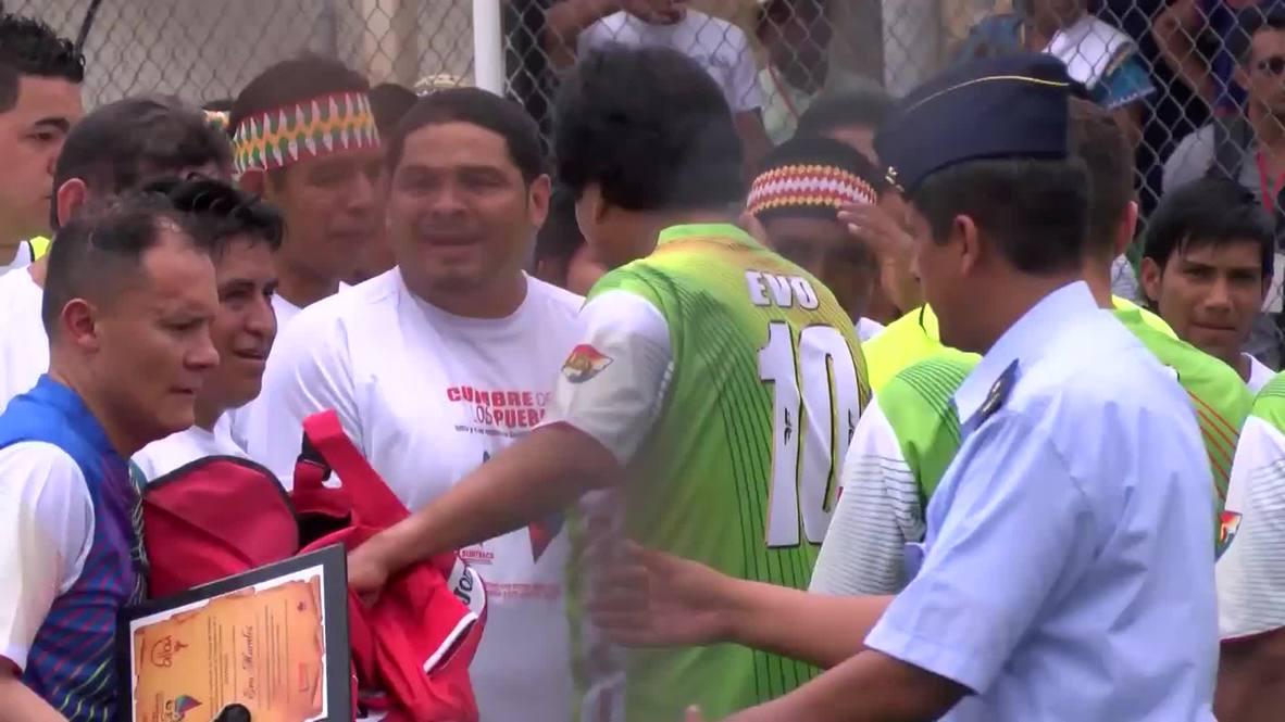 Panama: Watch Evo Morales show off his silky footballing skills
