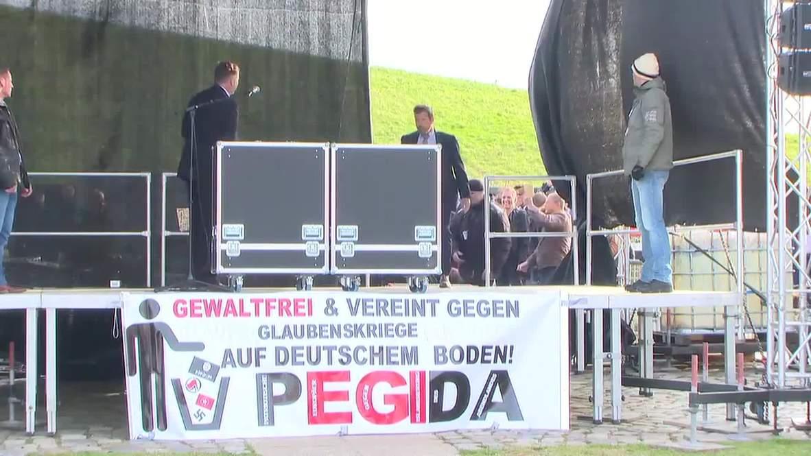 Germany: Geert Wilders addresses PEGIDA in Dresden