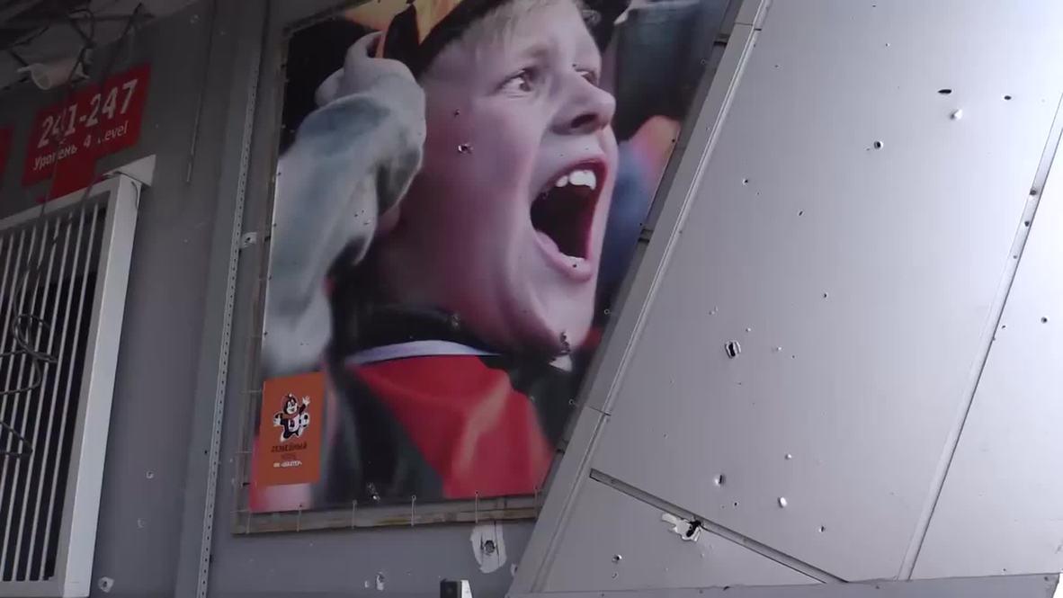 Ukraine: Shakhtar Donetsk's stadium turned into humanitarian aid centre