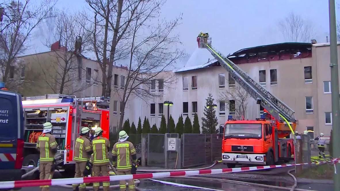 Germany: Two injured in Lichterfelde refugee camp blaze