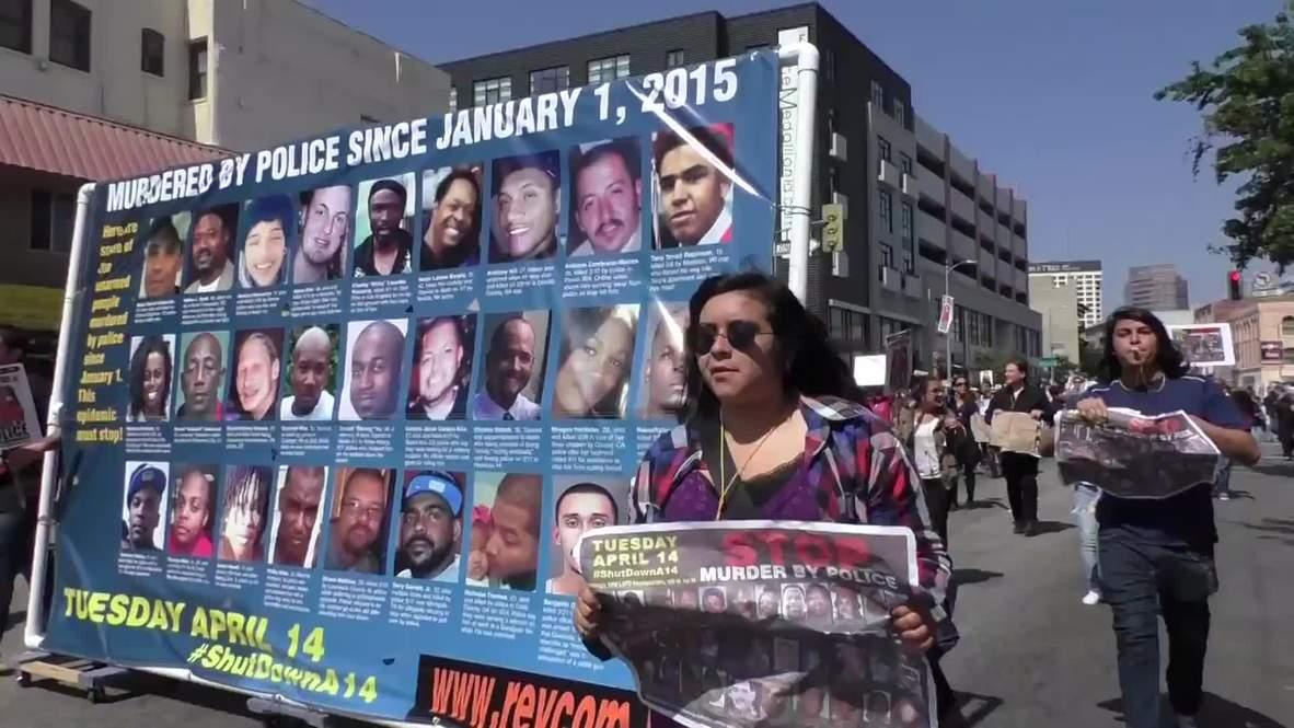 USA: Anti-police brutality protesters shutdown LA, 15 arrested