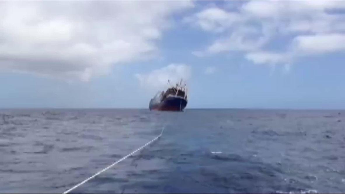 Spain: Russian vessel sank off Spanish coast