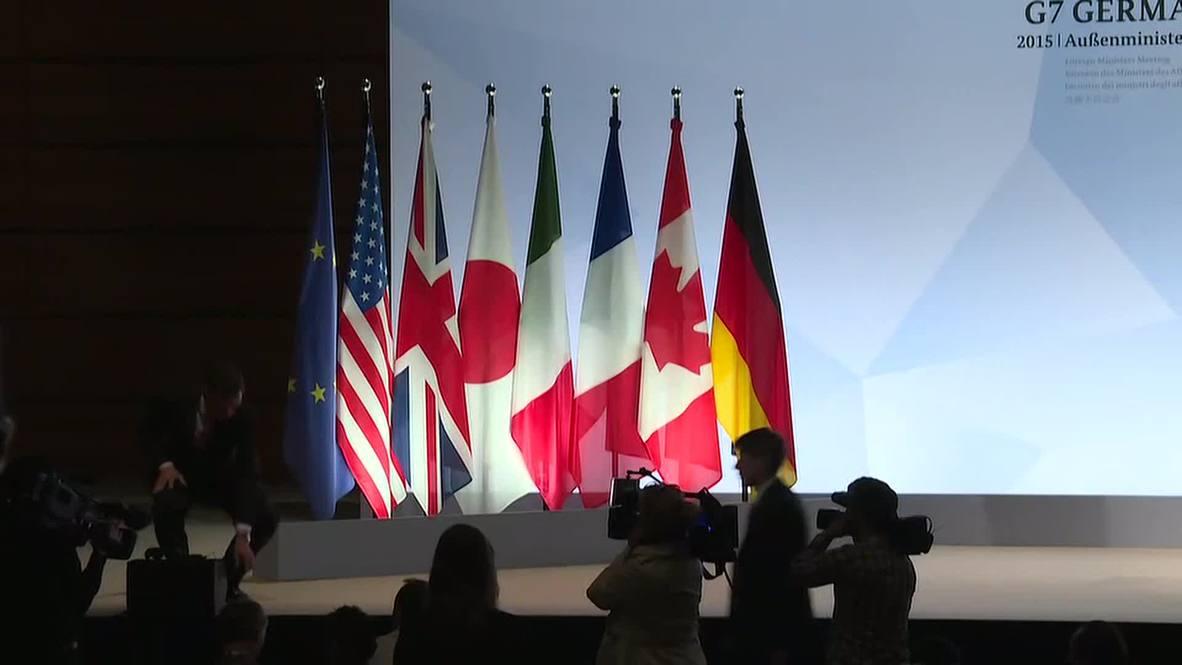 """Germany: FM Steinmeier lauds """"compelling"""" G7 meeting"""