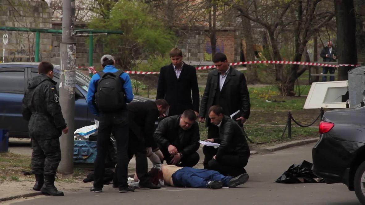 Ukraine: Writer and journalist Oles Buzina slain outside his apartment *GRAPHIC*