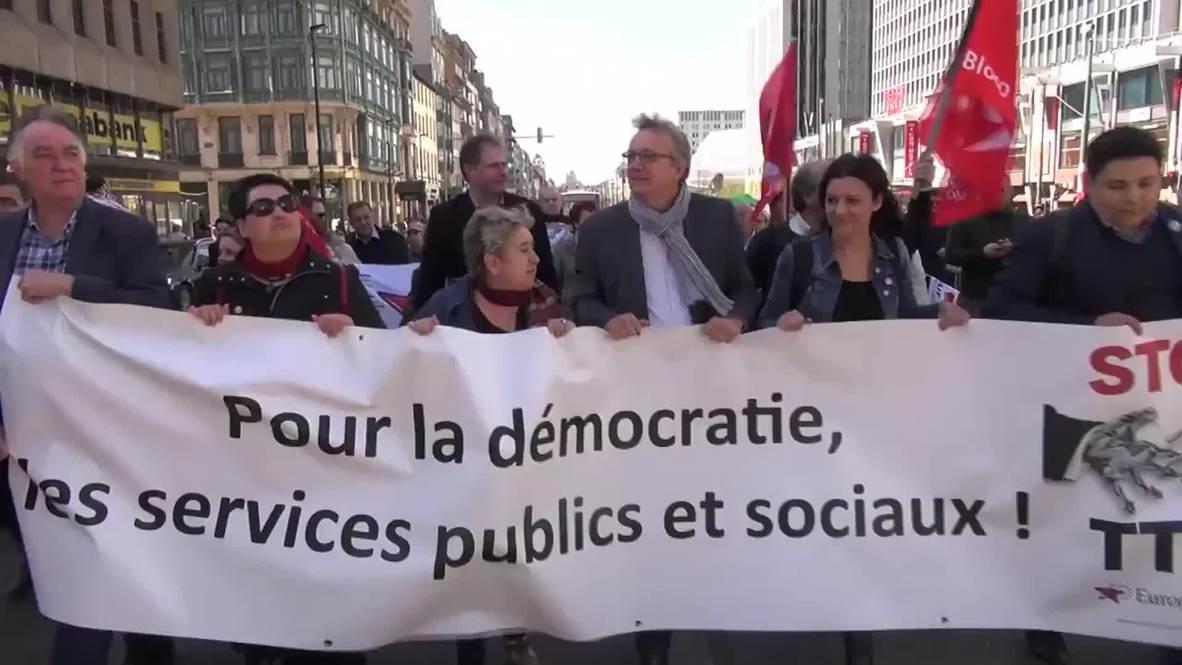 Belgium: Thousands take part in anti-TTIP demonstration