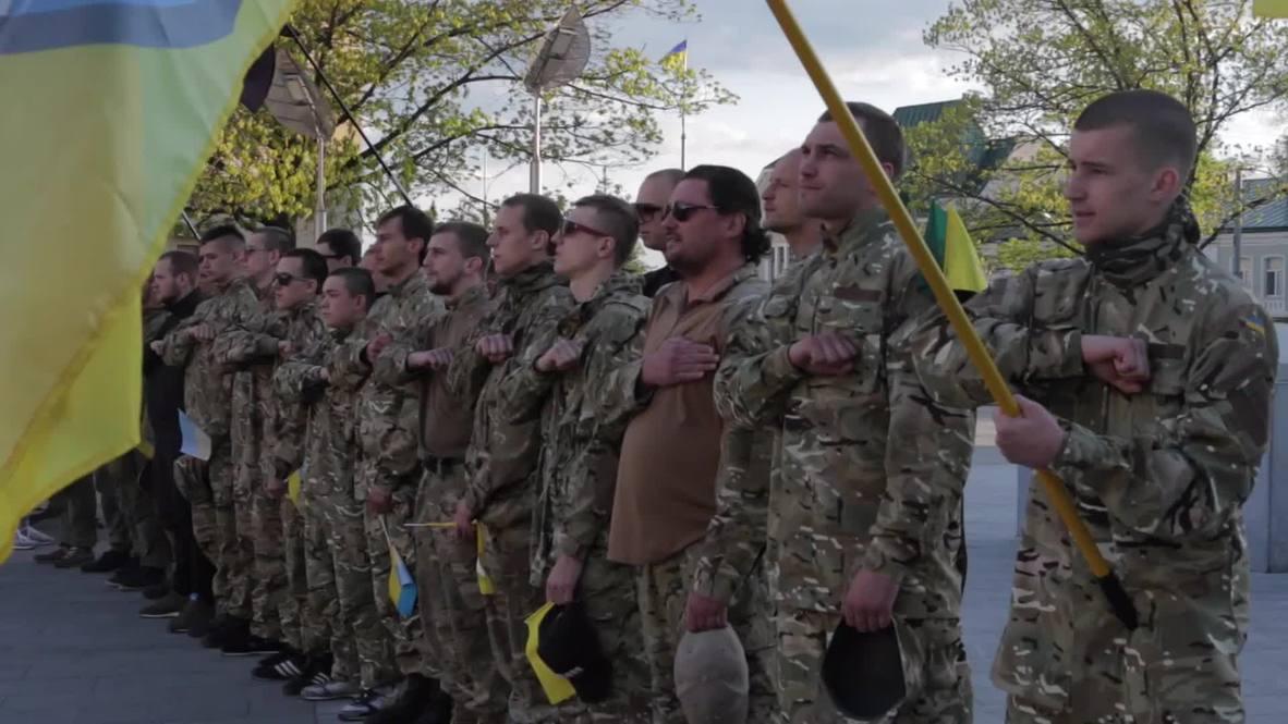 Ukraine: Azov battalion celebrates anniversary of its formation