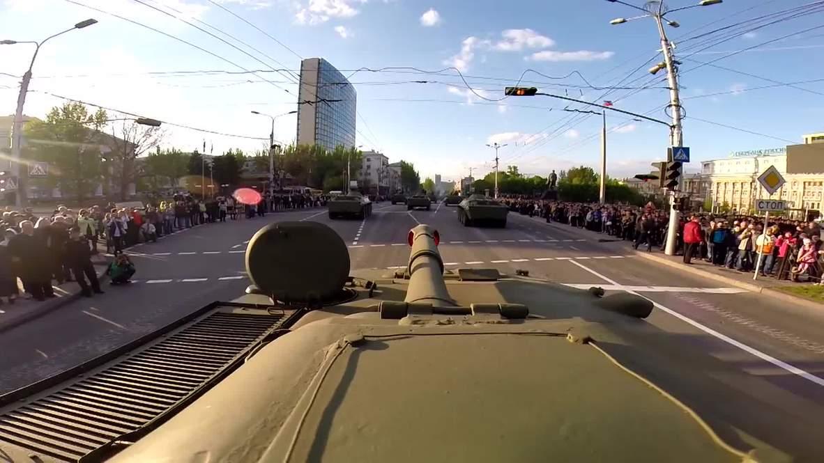 Ukraine: WATCH Go-Pro footage filmed on top of a TANK