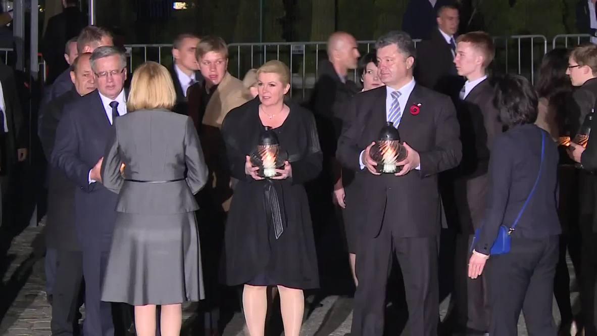 Poland: Poroshenko among leaders commemorating WWII in Gdansk